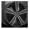 HE899 Satin Black Machined w/ Gloss Black & Chrome Inserts 5 lug