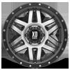 6 LUG XD128 MACHETE MACHINED FACE W/ BLACK RING