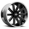 XD200 Heist Gloss Black Milled Center w/ Chrome Lip 6 lug