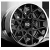 XD203 Chopstix Gloss Black Milled Center w/ Chrome Lip 6 lug