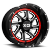 XD833 Recoil Satin Black Milled w/ Red Ring 8 lug