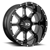 6 LUG XD838 MAMMOTH GLOSS BLACK MILLED