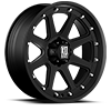 XD798 Addict Matte Black 6 lug