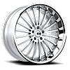 5 LUG NEW YORK X130 MATTE SILVER BRUSHED FACE CHROME LIP