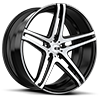 Caracas X233 Matte Black w/ Brushed Face 5 lug