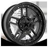 XS827 RS3 Matte Black - 20x7 4 lug