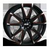520 Black 5 lug
