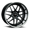 5 LUG 526 GLOSS BLACK WITH STAINLESS STEEL LIP