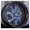 AF826 Blue and Black 5 lug
