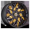 AF832 Black and Yellow 5 lug