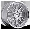 Valencia Silver with Mirror Cut Lip 5 lug