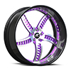 Bello Black and Purple 5 lug