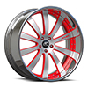 Cavo Silver, Black and Red with Chrome Lip 5 lug