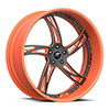 Girata Orange and Flat Black 5 lug