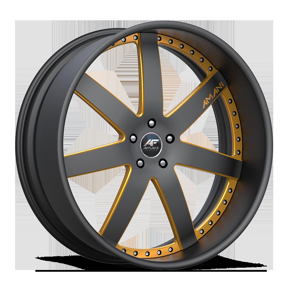 Trinity Black/Yellow 5 lug