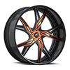 Vdara Black w/ Orange Inserts 5 lug