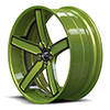 Delano Concave Green and Black 5 lug