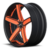 Delano Concave Orange and Flat Black 5 lug