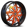 Lorenzo Orange and Silver with Carbon Lip 5 lug