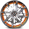 Lorenzo Chrome With Orange Lip 5 lug