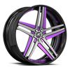 Tesla Concave Black and Purple with Black Lip 5 lug