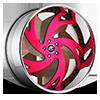 Freccia Red with Chrome Lip 5 lug