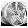 Verato Concave Silver Machined 5 lug