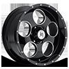Grit (S115) Gloss Black with Ball Machine 6 lug
