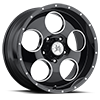 Grit (S115) Gloss Black with Ball Machine 5 lug