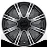 8 LUG AR708 RIBELLE MATTE BLACK MACHINED
