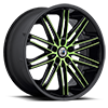 5 LUG ABL-10 GREEN WITH BLACK LIP
