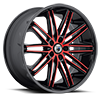 5 LUG ABL-10 RED WITH BLACK LIP