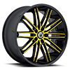 5 LUG ABL-10 CUSTOM-YELLOW WITH BLACK LIP