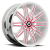 ABL-10 White and Pink 5 lug