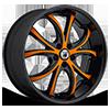 ABL-8 Orange with Black Lip 5 lug