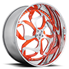 AF808 Tangerine and Chrome 5 lug
