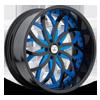 AF821 Blue and Black 5 lug
