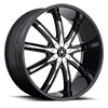 6 LUG RIMINI BLACK WITH CHROME INSERTS