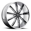 6 LUG RIMINI CHROME WITH BLACK INSERTS