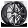 CX193 Gloss Black w/ Chrome Inserts 5 lug