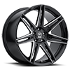 5 LUG 414 MODENA GLOSS BLACK WITH CNC MILLED ACCENTS