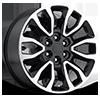 Style 53 Black Machined 6 lug