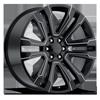 Style 72 Gloss Black Milled 6 lug