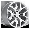 Style 44 Silver Machined 5 lug