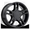 Style 51 Gloss Black 6 lug