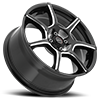 4 LUG 422 F-007 GLOSS BLACK WITH MILLING AND CLEAR COAT