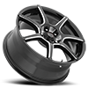 5 LUG 422 F-007 GLOSS BLACK WITH MILLING AND CLEAR COAT