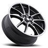 4 LUG 177 F10 ANTHRACITE GREY WITH DIAMOND CUT ACCENTS AND CLEAR COAT