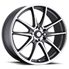 5 LUG 177 F10 ANTHRACITE GREY WITH DIAMOND CUT ACCENTS AND CLEAR COAT