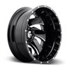 8 LUG CLEAVER DUALLY REAR - D239 GLOSS BLACK & MILLED